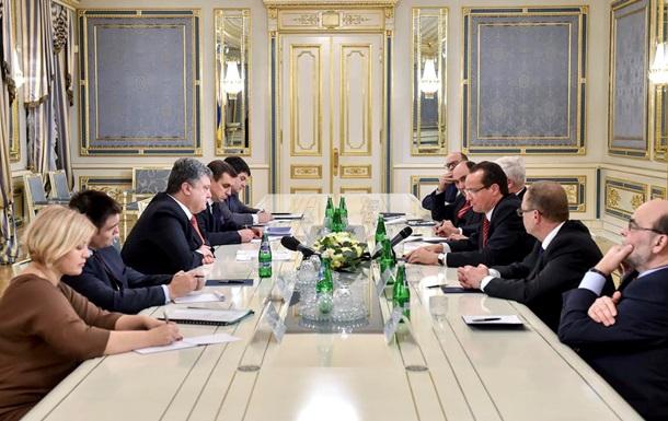 Порошенко встретился с немецкими депутатами