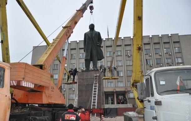В Одесской области снесли самого большого Ленина