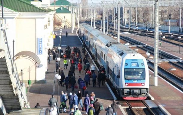 Двухэтажный поезд Киев-Харьков вышел в первый рейс