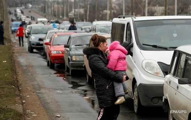 В пункте пропуска на Донбассе скопились километровые очереди