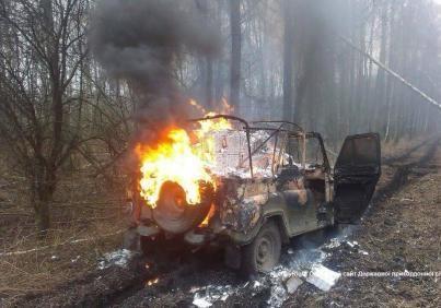 Контрабандисти підпалили власну машину, щоб втекти від прикордонників
