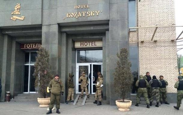 Правые заняли актовый зал отеля на Майдане