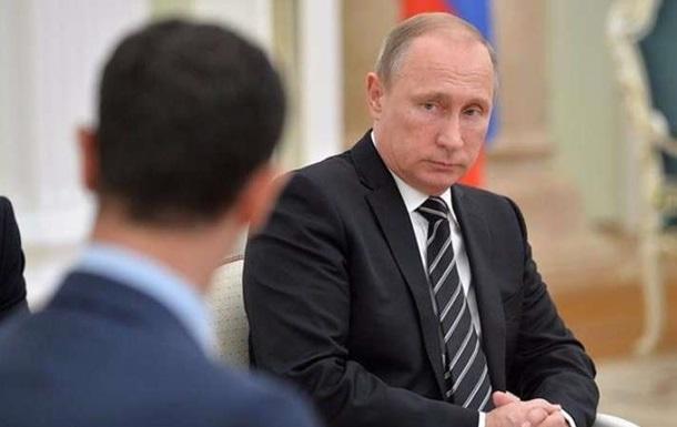 Путін і Асад обговорили договір зі США щодо Сирії