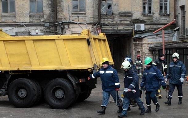 Обвалення будинку в Києві: рятувальники завершили роботу