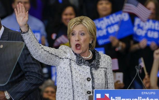 Клінтон перемогла на попередніх партійних виборах