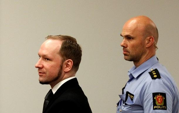 Брейвік оскаржить умови свого тюремного ув язнення в ЄСПЛ