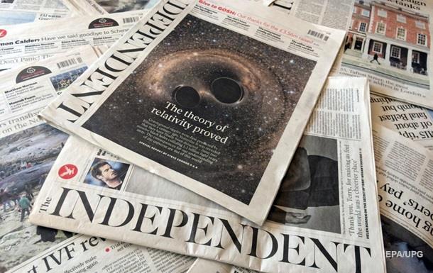Печатная версия газеты Independent выйдет 26 марта в последний раз