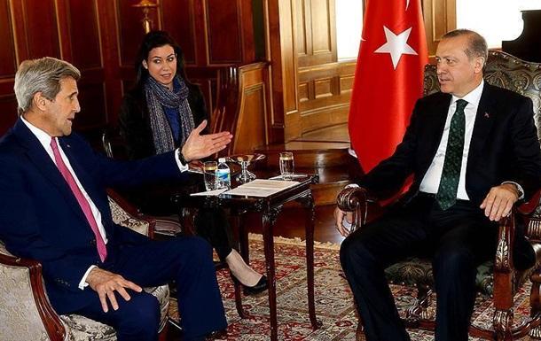 Ердоган зустрівся з Керрі