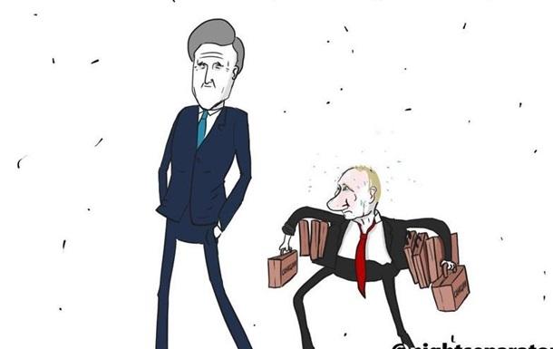 Язык Саакашвили и чемоданчик Керри: мемы недели