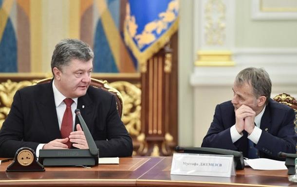 Джемілєв розкритикував позицію Порошенка по Криму