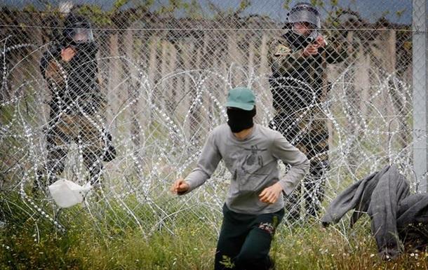 На македонському кордоні сталися сутички між біженцями та поліцією