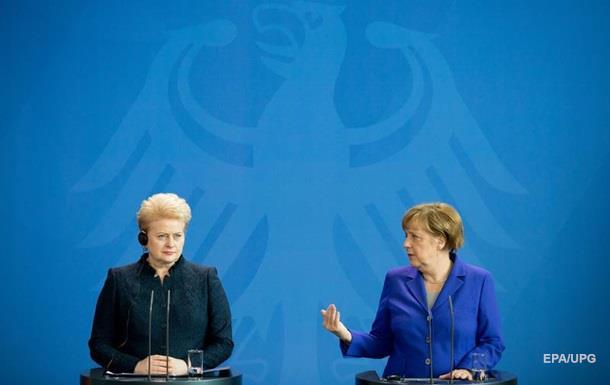 Меркель пообещала Литве военную поддержку