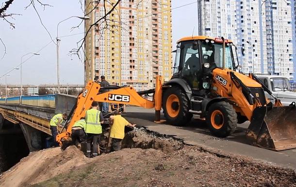 Киевгаз ликвидировал повреждение газопровода на Русановке