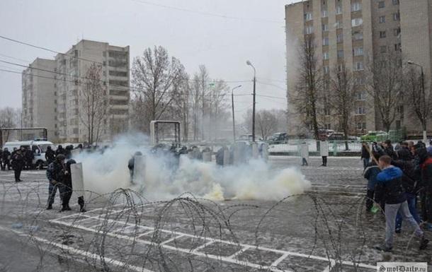 Російські силовики тренувалися розганяти мітинги