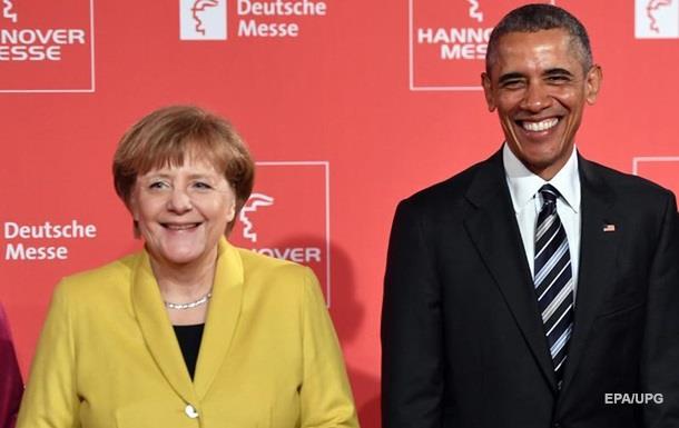 Меркель и Обама призвали к выполнению  Минска