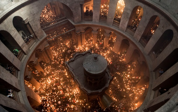 Схождение Благодатного огня в Иерусалиме: онлайн
