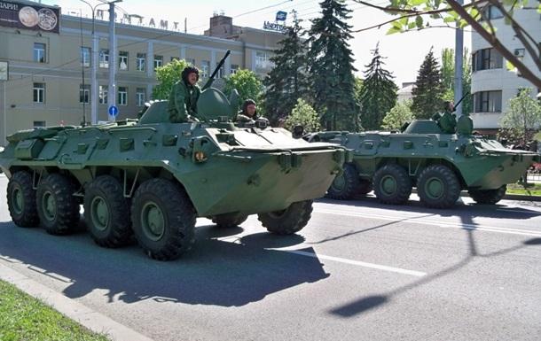Донецьк вишколюється на військовий парад 9 Травня