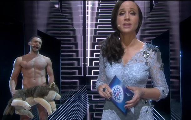 Ведущий Евровидения полностью обнажился в прямом эфире