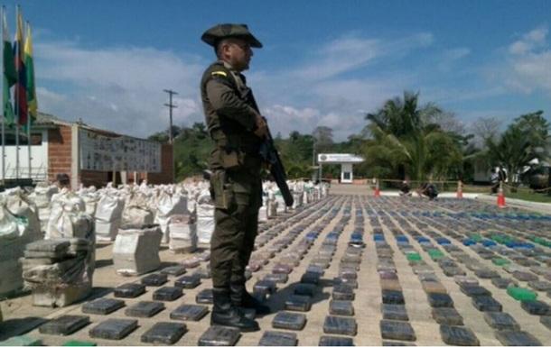У Колумбії виявили рекордну 8-тонну партію кокаїну