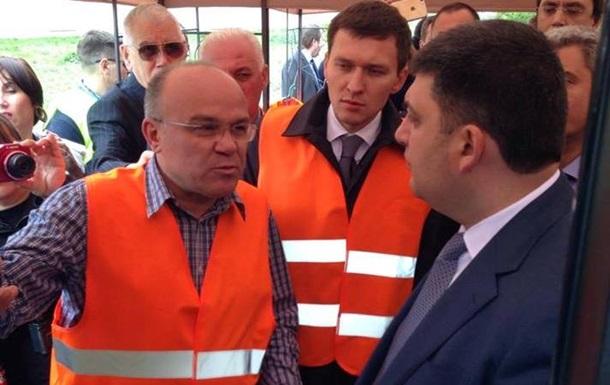 Гройсман в Одессе учил водителей ездить не перегруженными