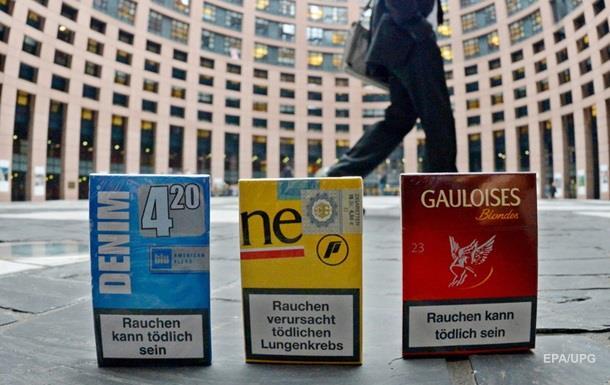 Страшні картинки на пачках сигарет в ЄС будуть більшими