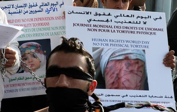 В тюрьмах Сирии за пять лет погибли более 60 тысяч человек