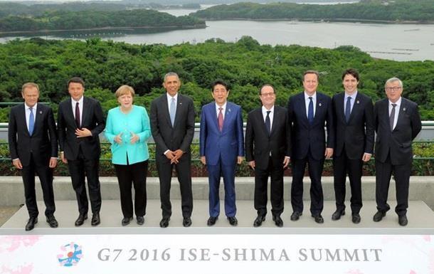 G7 продовжить санкції проти Росії в червні