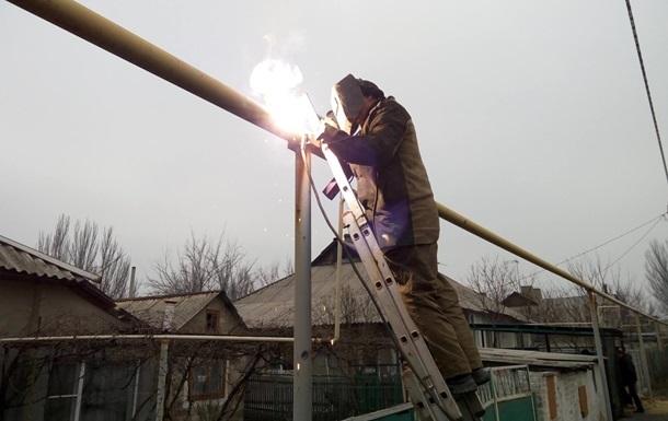 В Докучаевске восстановили перебитый газопровод
