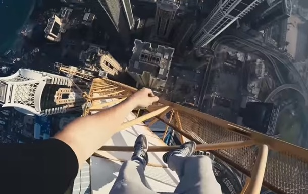 Украинский руфер покорил 492-метровый кран в Дубае