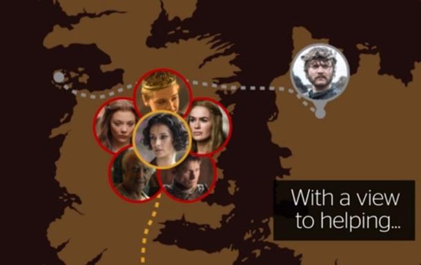 Появилась анимированная карта Игры престолов
