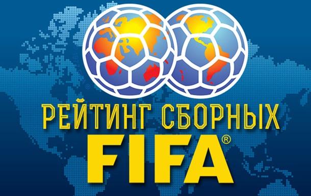 Україна піднялася в рейтингу ФІФА