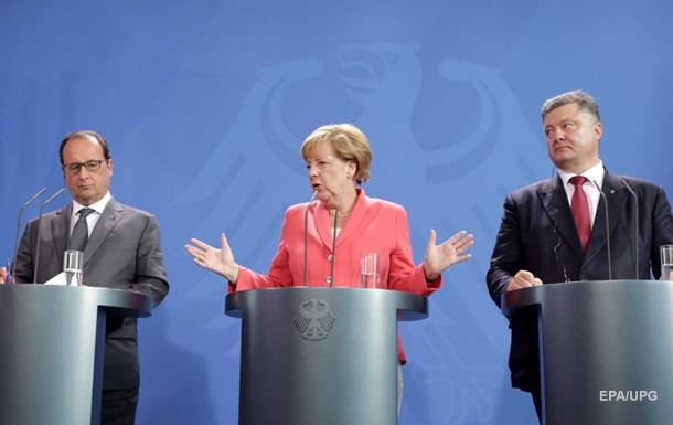 Порошенко, Олланд и Меркель обсудили санкции против РФ