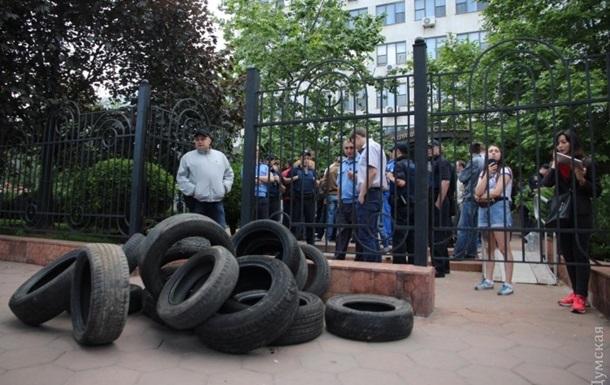 В Одессе активисты заблокировали апелляционный суд