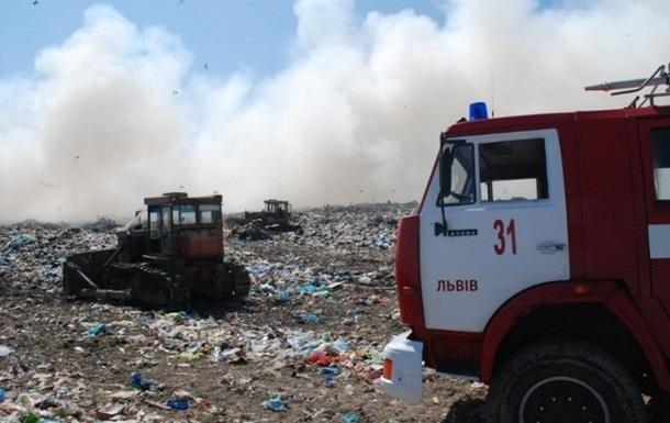 На сміттєзвалищі під Львовом знову пожежа