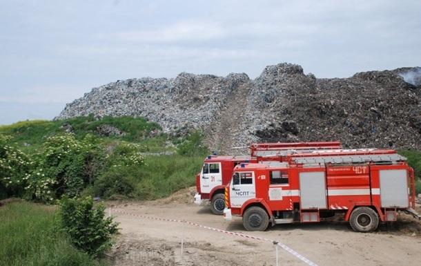 Пожар на свалке под Львовом потушен – ГосЧС