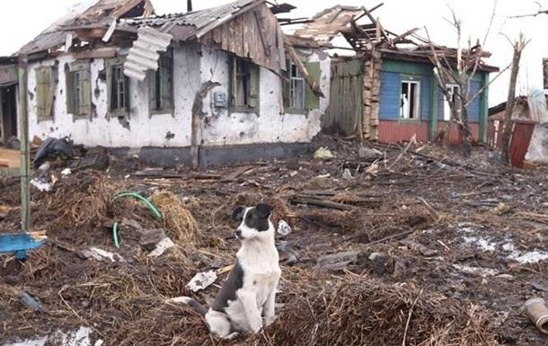 На Донеччині зруйновано близько дев яти тисяч будинків