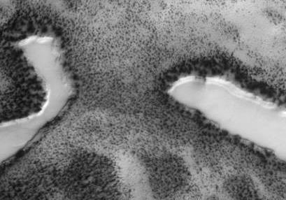 На Марсе обнаружены три озера (фото)   UkrLenta.net