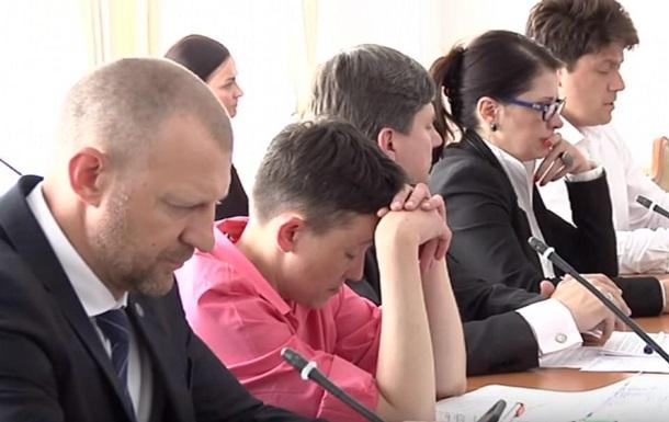 Савченко заснула на засіданні з нацбезпеки
