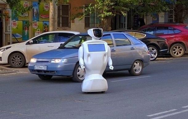 В России робот сбежал с полигона и устроил пробку