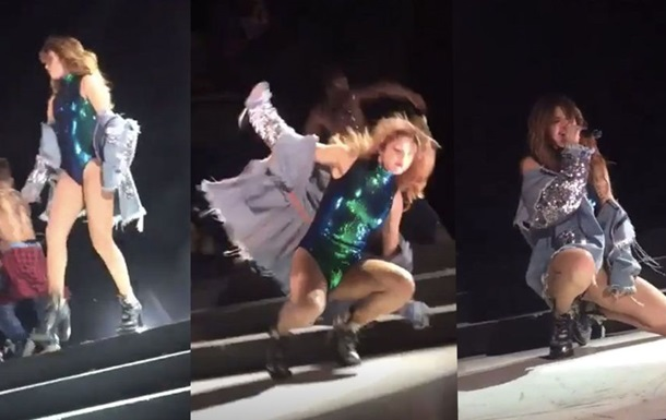 Селена Гомес осоромилася, впавши на концерті