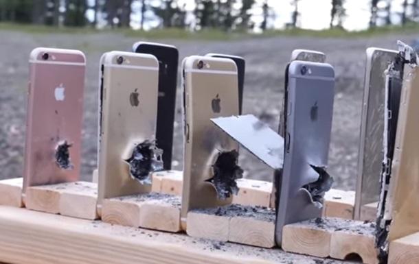 iPhone и Samsung испытали на пулепробиваемость