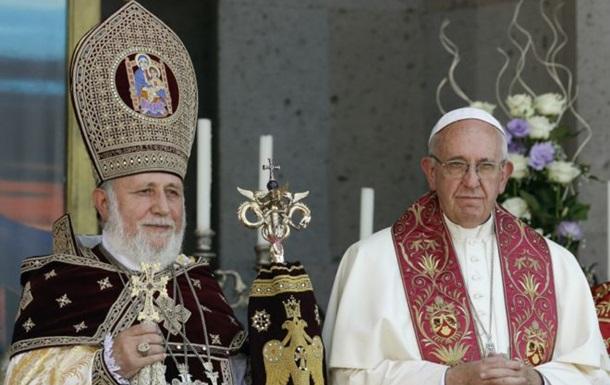Анкара обурена словами папи Франциска про геноцид вірмен