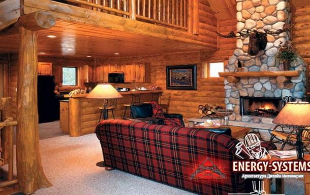 Дизайн интерьера деревянного дома от Energy-Systems