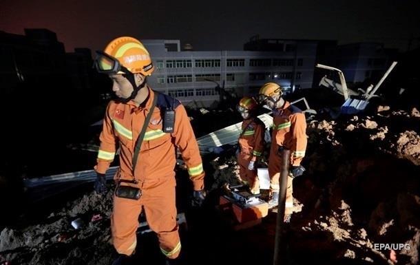 Жертвами оползня в Китае стали более 30 человек