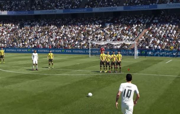 Дж. Родрігес показав нову систему виконання стандартів у FIFA 17