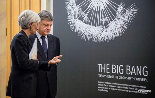 Порошенко обговорив з главою МВФ черговий транш