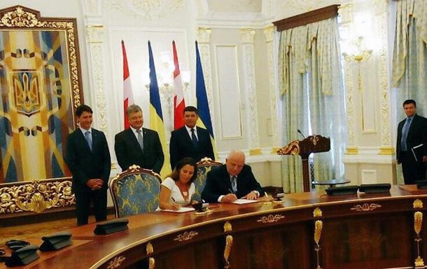 Украина и Канада договорились о свободной торговле