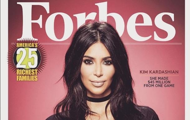 Forbes оголосив Кардашьян мобільним магнатом