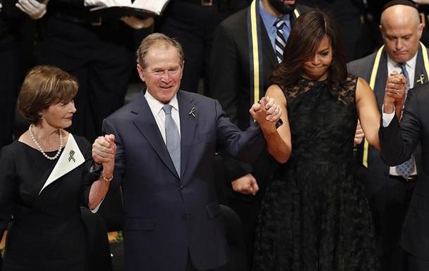 Джордж Буш танцевал на панихиде в Далласе