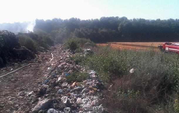 Пожар на свалке под Киевом: осталось потушить меньше гектара
